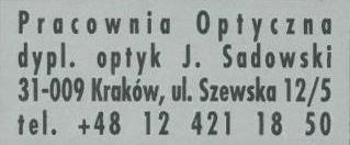 Pracownia Optyk Sadowski